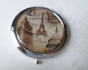 x 1 mirror pattern Eiffel Tower vintage silver-plated n ° 4