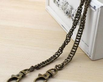 chain 40 cm of bronze metal purse