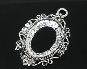 x 1 holder/pendant Silver Oval cameo antique 5.1 x 3.3 cm