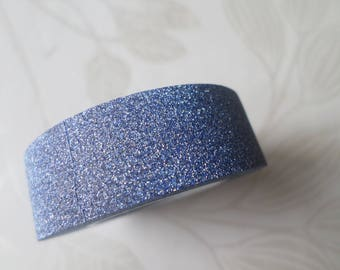 x 10 meters of glittery blue adhesive ribbons masking tape repositionable 15 mm