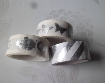 3 times 3 m adhesive ribbons masking tape white repositionable 15 mm silver