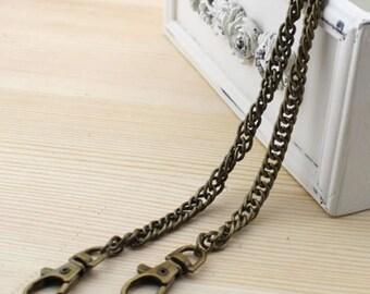 120 cm chain bronze metal purse