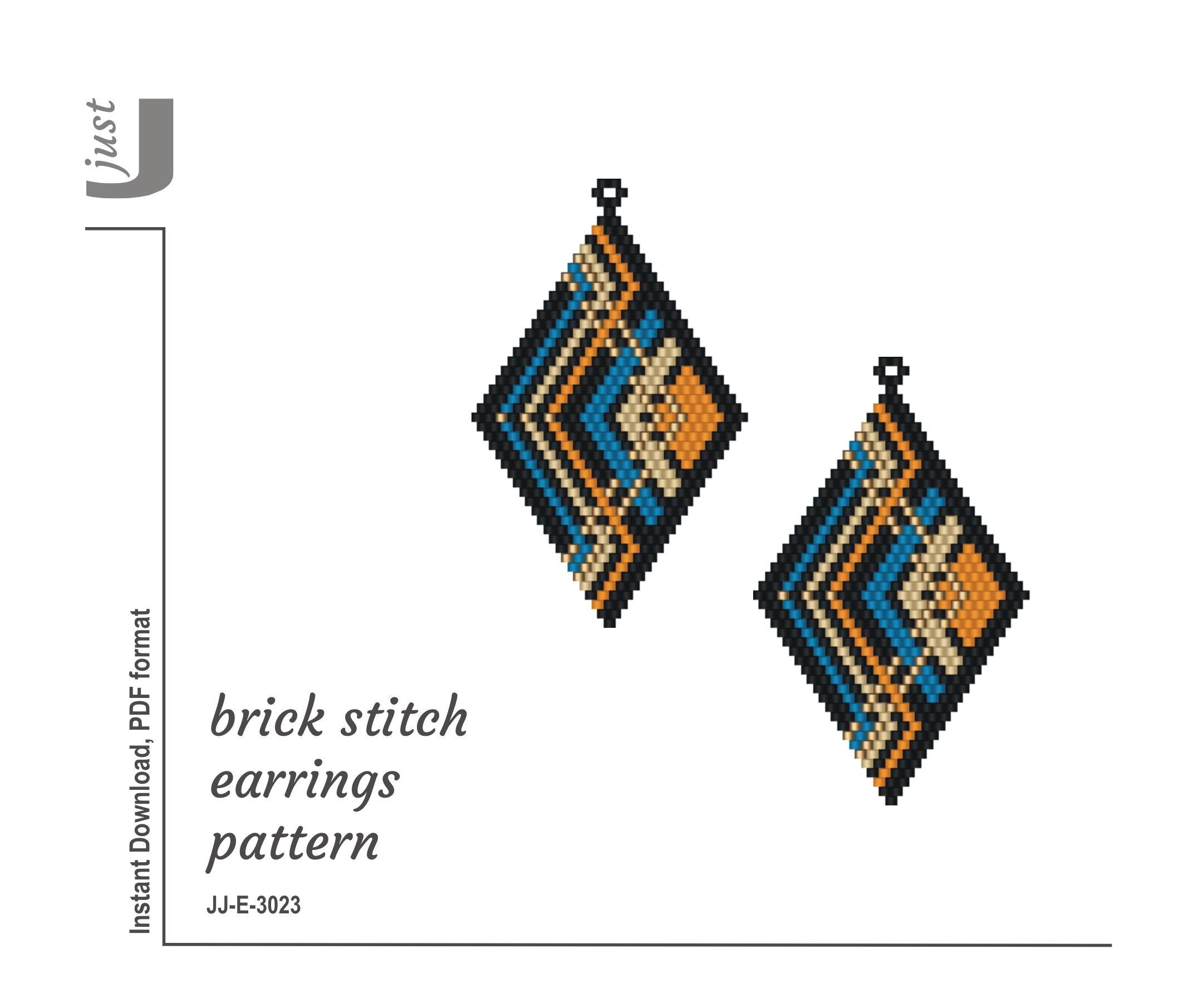 Colorful Brick stitch bracelet pattern Seed bead patterns bracelet Delica bead patterns