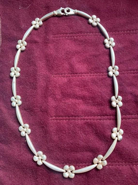 Vintage sterling silver necklace. Milor. Italy.