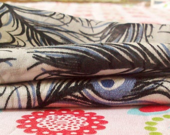 SET OF TWO BLUE SHADES FABRICS COUPONS GRAY AND TAUPE