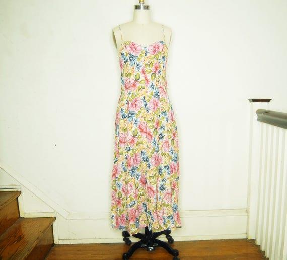 maxi rayon flower print dress - California Krush d