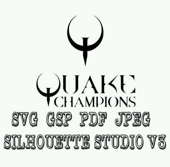 Quake And Quake Champions Logo Vinyl Decal Svg Pdf Jpeg Gsp Etsy