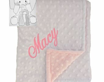 Coral and Snow Personalized Minky Blanket,Custom Minky Blanket,Personalized Baby Blanket,BabyGirl Blanket,New baby,Security Blanket,Keepsake
