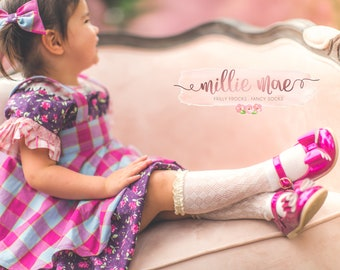 Baby Girl Knee High Socks Crochet with Ruffle- Available in Multiple Colors and Sizes!
