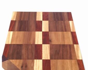 Walnut, Ash and African padauk  cutting board