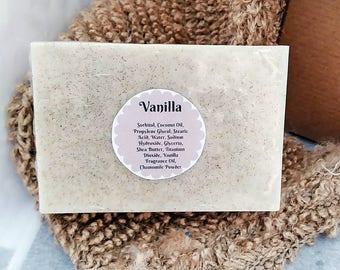 Vanilla Soap Bar-Vanilla Soap-Fall Soap-Homemade Soap-Handmade Soap-Bar Soap-Natural Soap-Shea Butter Soap-Rustic Soap
