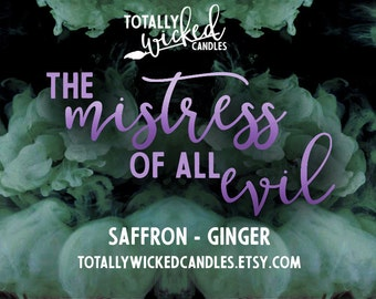 The Mistress of All Evil- Sleeping Beauty inspired soy candle