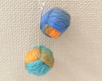 Multicolor Monkey's Fist Earrings