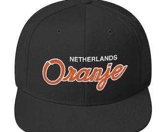 1edfb1c928f Netherlands Soccer Snapback Hat