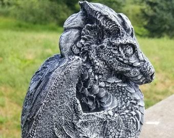 Concrete Dragon Statue, Dragon Garden Statue, Dragon Yard Ornaments, Cement  Dragon, Dragon Wings