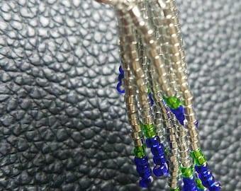 Beaded hairpin: Seahawks colors