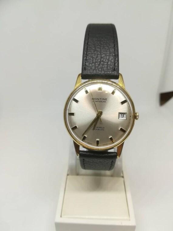 Vintage Montine men's wristwatch