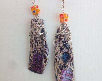 Ficodindia Fiber Earrings