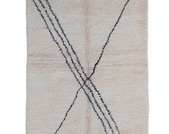 Morocco Rug - Beni Ouarain Wool Rug - Area Small Rug - Beni Ourain Rug - Handwoven Rug - Hygge Tapis Marocain - Christmas Gift