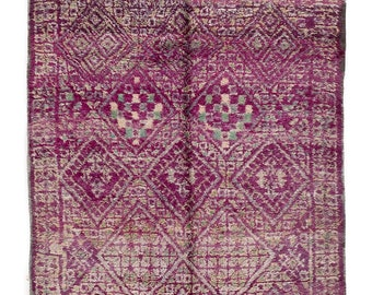 Vintage Berber Rug - Handwoven Area Beni Rug - Moroccan Rug - Vintage moroccan Rug - Faded Carpet - Vintage berber Carpet - Wool Rug