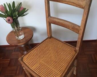 Handmade Vintage Rattan Chair