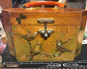 Vintage Wooden Octagon Nature Purse