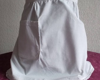 Cute apron set surrounded by a small lace