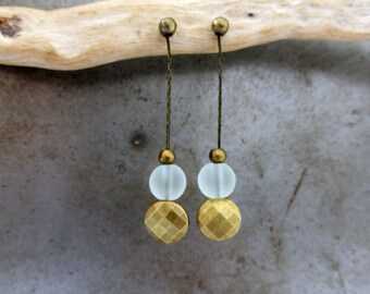 Earrings the carefree fine translucent, faceted beads.