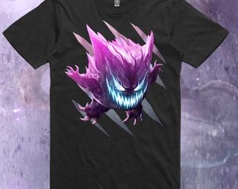 8739d90f Gengar tshirt, unisex, shirt, pokemon tshirt, pokemon fan art, pokemon  apparel, gengar apparel, gengar, haunter, gastly