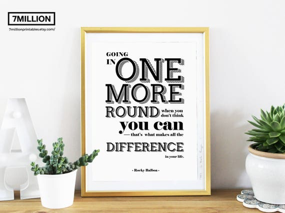 Inspirational Poster Motivational Quote Rocky Balboa Quote Film Quote Print For Office Motivation For Your Home Office Movie Quote