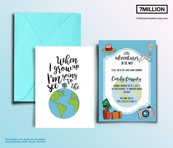 Printable travel themed baby shower invitation printable etsy image 0 filmwisefo