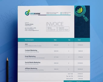 simple clean ms word invoice template editable photography invoice invoice receipt business form psd invoice instant download