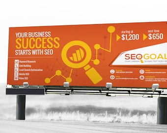 SEO Search Engine Optimization Signage Billboard and Rollup Banner   Digital File, Instant Download