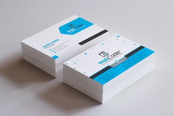 Visitenkarte Für Web Design Und Entwicklung Agentur Visitenkarte Druck Kundenspezifische Visitenkarte Digital Print Datei Sofort Download