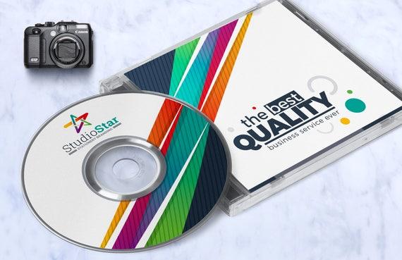 Cd Label Artwork Design Template Printable Cv Dvd Case Cover Disk Label Design Template Digital Files Instant Download