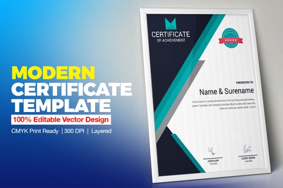 Certificate Template Vol 02 Etsy