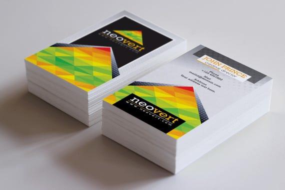 Bunte Visitenkarte Vorlage Visitenkarten Design Visitenkarte Druck Kundenspezifische Visitenkarte Digital Print Datei Sofort Download