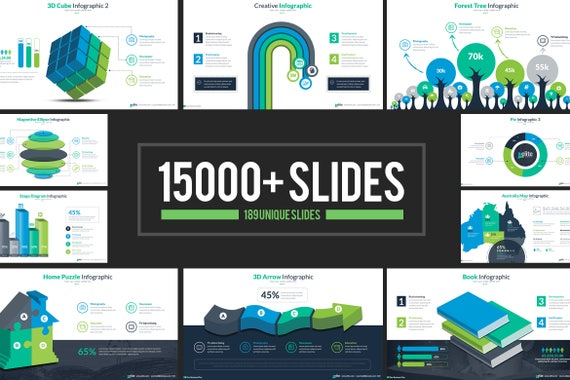 Business Infographic Presentation Powerpoint Template 189 Etsy