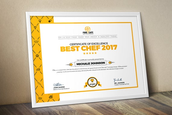 Modern certificate template multipurpose certificate etsy image 0 accmission Choice Image
