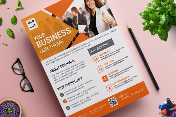 Vol 06 Instant Digital File Download Print Ready Custom Clean and Creative Flyer Corporate Business Flyer Design Template