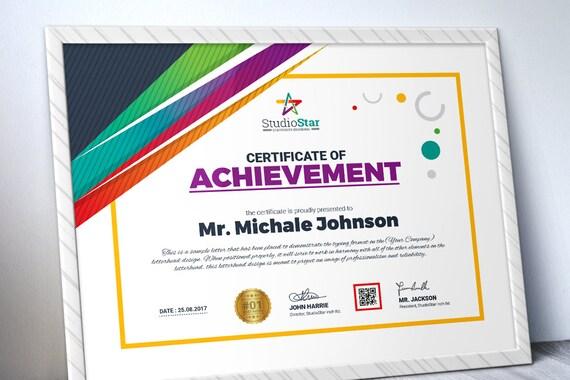 Creative Certificate Template Multipurpose Certificate Etsy