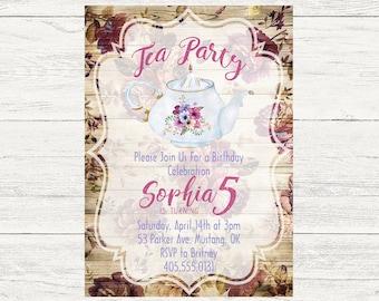 Tea party invitation etsy stopboris Images