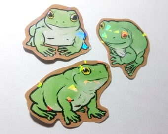 Whites Dumpy Tree Frog (Holo) Stickers