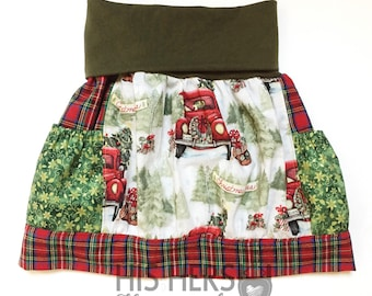 Christmas Skirt - Red Truck - size 2T - 4T