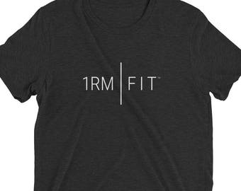 07aa3c96 1RM | FIT - Men's Triblend Short sleeve CrossFit/Workout t-shirt