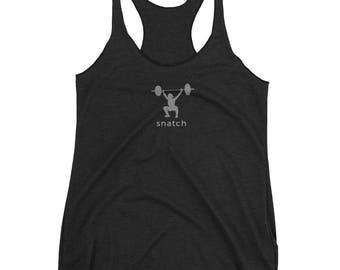 f87d17d2517ef Snatch - Women s Weightlifting   CrossFit Racerback Tank