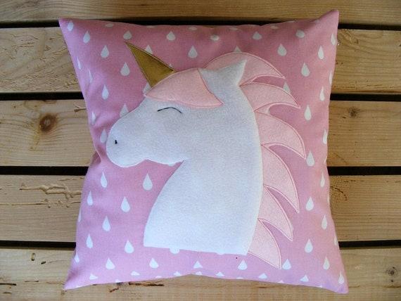 Personalizado Bordado lindo Unicornio Girly Cojín-añadir colores de cambio de nombre