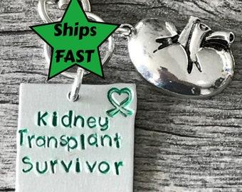 Kidney Transplant Medical Alert Keychain