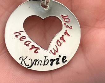 CHD heart warrior necklace - Can be personalized