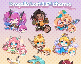 """Dragalia Lost 2.5"""" Double-Sided Acrylic Charms"""